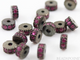 Pave Pink Sapphire Roundel Spacer , (PS/RND6) - Beadspoint
