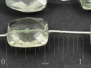 Green Amethyst Medium Micro faceted Chicklets, (GAMmedchic) - Beadspoint