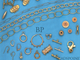 Sand Chalcedony Faceted Coin Shape Bezel Connector, (BZC7252) - Beadspoint