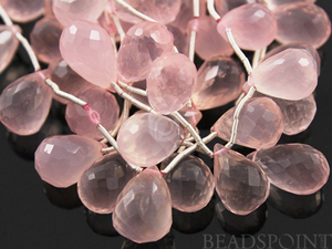 Rose Quartz Medium Faceted Tear Drop,  (RQ8x12TEAR)