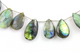 Labradorite Large Faceted Pear Drops, (LAB27x15PR) - Beadspoint