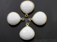 White Onyx Faceted Heart Shape Bezel, (BZC7046) - Beadspoint