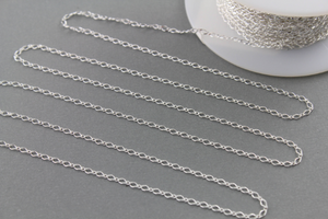 Sterling Silver 2.1 mm baby Figaro Diamond Cut Chain, (C101CDC), (167) - Beadspoint