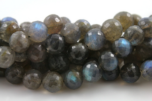 Labradorite Faceted Round Drop,  (LAB/RD/8-10) - Beadspoint