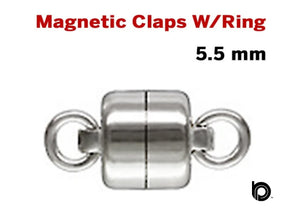 Sterling Silver Magnetic Clasps w/Ring, (SS/877/R)