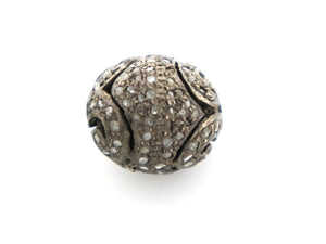 Pave Diamond Bead, (DB-13) - Beadspoint