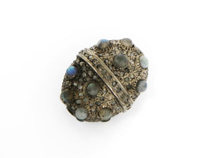 Pave Diamond and Labradortie Bead, (DB-73) - Beadspoint
