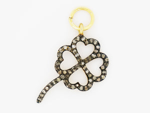 Pave Diamond Rose Charm, (DCH-66) - Beadspoint