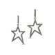 Pave Diamond Star Dangle -Sparkly Star-Celestial Earrings, (DER-1042) - Beadspoint