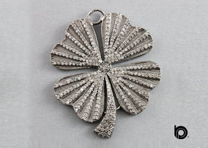 Pave Diamond Flower  Pendant -- DP-1342