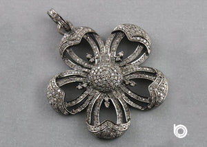 Pave Diamond Flower Pendant -- DP-1386