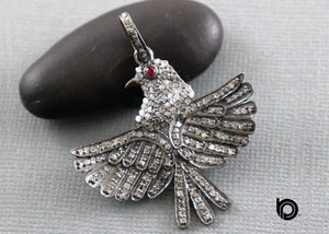 Pave Diamond Dove Bird Pendant -- DP-1866