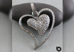 Pave Diamond Heart Pendant, (DP-1888)