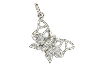 Pave Diamonds Large Butterfly Pendant, (DPL-2343) - Beadspoint