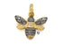 Pave Diamond two tone Bumble Bee, (DPT-3017)