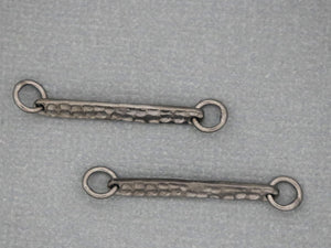 Sterling Silver hammered bar link, (LC-15) - Beadspoint