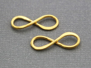2 Pcs, Sterling Silver infinity link,  (LC-26) - Beadspoint