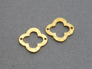 4 Pcs, Sterling Silver Quatrefoil / Clover Link (LC-29) - Beadspoint