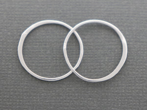 2 Pcs, Sterling Silver Circle link (LC-35) - Beadspoint
