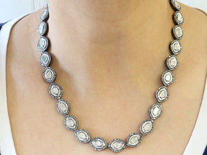 Pave Diamond Rosecut Necklace, (DNK-017) - Beadspoint