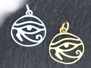 Sterling Silver Eye Horus Charms (HT-8270) - Beadspoint