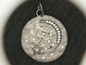 Sterling Silver Moon/Star Charm (AF-300) - Beadspoint
