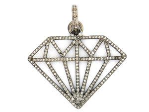 Pave Diamond Large Diamond Pendant,  (DPL-2169) - Beadspoint