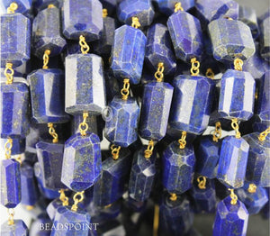 Lapis Nuggets Rosary Chain, (RS-LAP-162) - Beadspoint