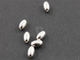 Sterling Silver Smooth Oval Bead ,(SS/2013/5x8) - Beadspoint