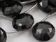 Black Onyx Faceted Top Drilled Coin Beads, (X9COIndrop) - Beadspoint