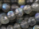Grey Labradorite Small Micro Faceted Rounds, (LAB4FRND) - Beadspoint