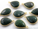 Dyed Emerald Faceted Pear Shape Bezel, (BZC7287) - Beadspoint