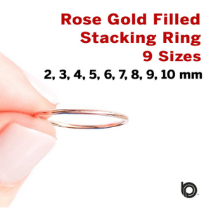 Rose Gold Filled Stacking Ring, (RG/711)