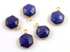 Lapis Faceted Modern Hexagon Shape Bezel, (BZC9025/LAP)