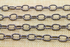 Rhodium Plated High Quality Italian Oval Heavy Krinkled cable chain, (CHN/508/RH)