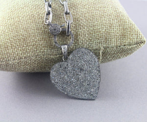 Pave Diamond Heart  Pendant -- DP-1423 - Beadspoint