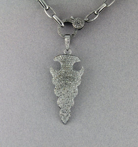 Pave Diamond Triangle Arrowhead  Pendant --DP-1312 - Beadspoint