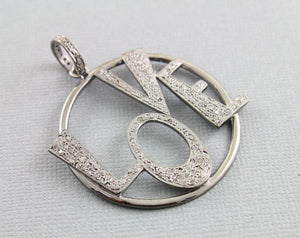 Pave Diamond Love  Pendant --DP-1191 - Beadspoint