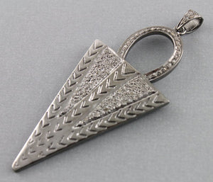 Pave Diamond Kite Triangle Pendant -- DP-1010 - Beadspoint