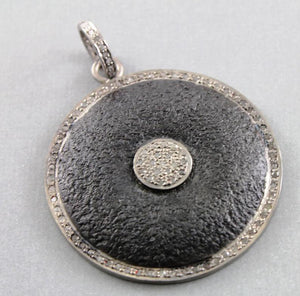 Pave Diamond Circle Pendant -- DP-1004 - Beadspoint