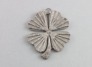 Pave Diamond Flower  Pendant -- DP-1342 - Beadspoint