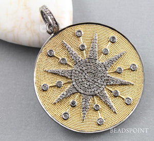 Pave Diamond Disc Star Pendant -- DP-1650 - Beadspoint