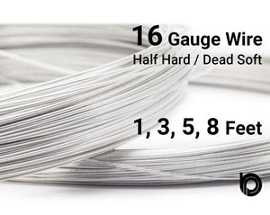 16 Gauge Sterling Silver Round Half Hard or Dead Soft Wire - Beadspoint