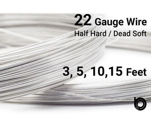 22 Gauge Sterling Silver Round Half Hard or Dead Soft Wire - Beadspoint