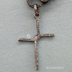 Pave Diamond Cross Pendant -- DP-1640 - Beadspoint