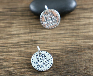 Sterling Silver Make Each Day Count Charm --SS/CH2/CR76 - Beadspoint