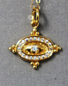 Gold Vermeil Over Sterling Silver Pendant With 0.1 White Diamonds -- VM/CH1/CR60 - Beadspoint