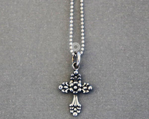 Sterling Silver Cross Charm  -- SS/CH1/CR62 - Beadspoint