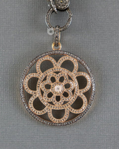 Pave Diamond Art Deco Pendant -- DP-1883 - Beadspoint