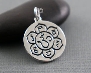 Sterling Silver Artisan OHM Charm -- SS/CH2/CR81 - Beadspoint